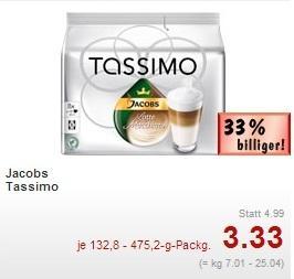 Kaufland Berlin Wedding - Tassimo Latte Macchiato 8 Tassen oder Caffè Crema XL 16 Tassen für 3,33 Euro