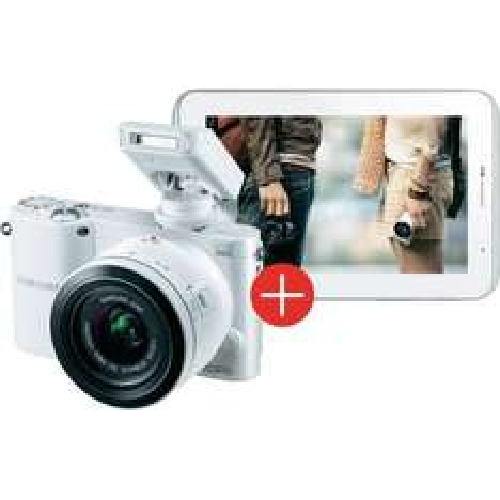 Systemkameras Samsung NX1000 Systemkamera WS Kit + 20 - 50 mm Objektiv + Samsung Galaxy Tab 2 7.0 WiFi