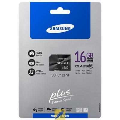 Samsung™ - 16GB SDHC Plus Speicherkarte (Class 10) für €8,54 [@MeinPaket.de]