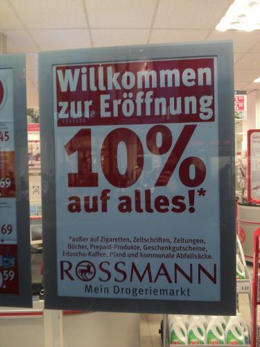 [GÜTERSLOH] Rossmann Neueröffnung - 10% auf Alles (außer auf übliche Ausnahmen)