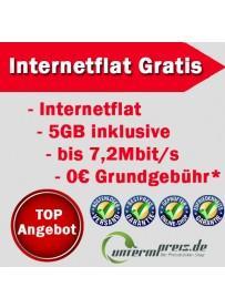 Mobile Internetflat mit 5GB GESCHENKT - Keine Grundgebühr - Kein Mindestumsatz