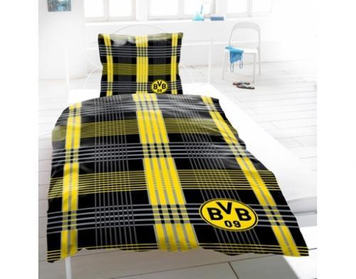 BVB / Borussia Dortmund Bettwäsche Biber 'Kreuzung' (40,45 € - vk-frei)