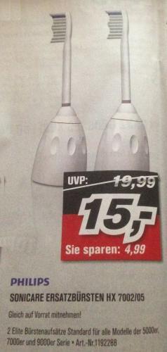Philips Sonicare - Ersatzbürsten (2x HX 7002/05) @ ProMarkt [offline]