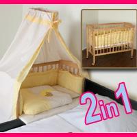 Beistellbett Polly inkl. Bettdecken, Kissen und Himmelsstange für nur 69,90 EUR inkl. Lieferung!