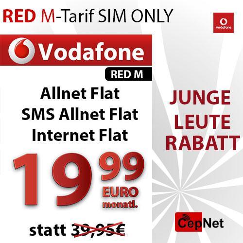 OHA DEAL BLITZANGEBOT Vodafone Red M ALL NETT JUNGE LEUTE für Nuur HEUTE 19,99€