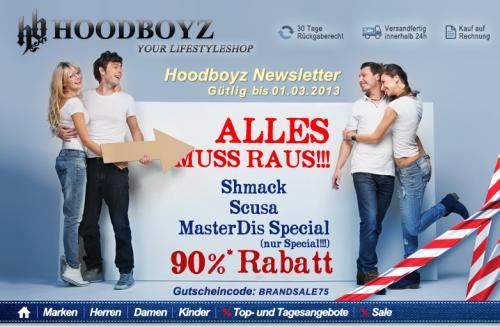 [Hoodboyz] 90% Rabatt auf Shmack, SCUSA und MasterDis Special