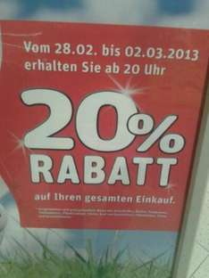 [LOKAL] 20% auf (fast) alles bei Rewe in Buxtehude ab 20 Uhr