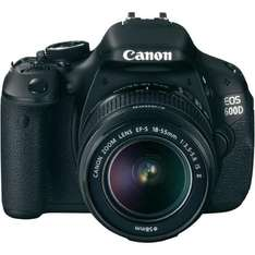 Canon EOS 600D Kit EF-S 18 - 55 mm IS II + 6%Qipu (24,15€) @ Conrad