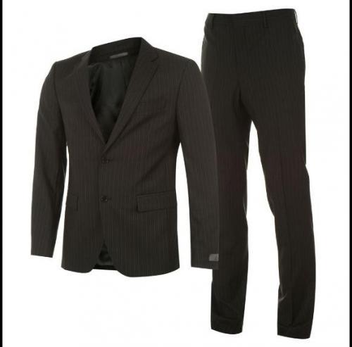 Calvin Klein Stripe Suit Mens Black von 461€ auf 121€ inkl. Versand @SportsDirect.com