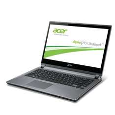 Acer Aspire M5-481PTG 14 Zoll Touch Ultrabook (Intel Core i5 3317U, 4GB RAM, 128GB SSD, NVIDIA GT 640M, DVD, Win 8) silber