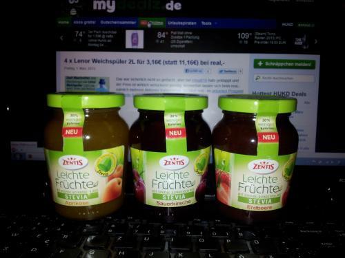 [Köln?] NEU: Zentis Leichte Früchte Stevia - 235 gr-Glas für 0,19 €