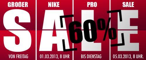 Nike Pro Sale 60% bei 11teamsports.de