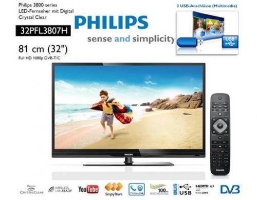 Philips 32PFL3807H LED-TV für 287,99€ @ Meinpaket