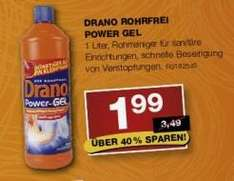 Staples Drano Power Gel nur 1,99€