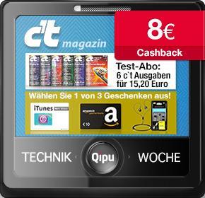6 Ausgaben c't Magazin inkl. 10€ Amazon Gutschein + 8€ Qipu-Cashback (rechn. Gewinn)