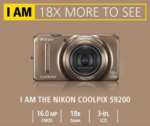 Nikon COOLPIX S9200 für nur 149,- EUR inkl. Versand!