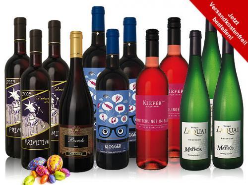 Versandkostenfrei 12 Frühlings-Weine im Paket -  37% reduziert