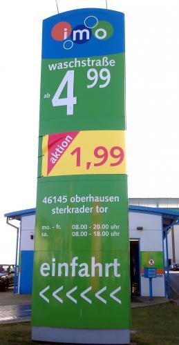 [Oberhausen] Einfache Autowäsche bei IMO Wash für 1,99 €