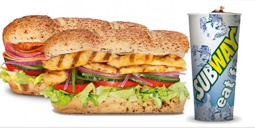 [Lokal Stuttgart] WIEDER DA -  SUBWAY Gutschein - 2x Chicken Teriyaki (15cm) + 2x Softdrink für 6,39€