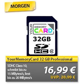 Morgen bei OHA! YourMemoryCard SD 32GB CLASS10