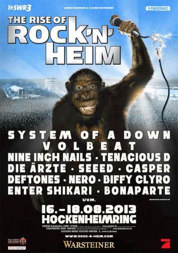 20 € Rabatt auf Tickets für Rock'n'Heim (16. bis 18.8.) für Besucher von Rock am Ring/Rock im Park