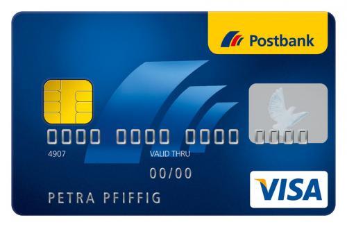 1% Rückvergütung auf alle Umsätze mit Postbank VISA Card