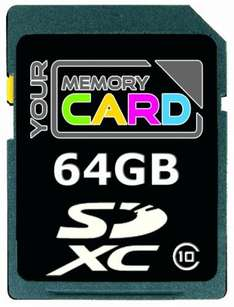 YourMemoryCard 64GB SDXC Class 10 Professional + 930 Superpunkte