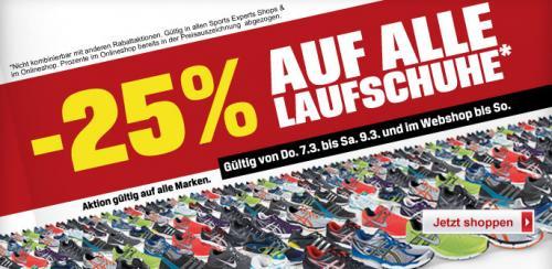 -25% auf alle Laufschuhe (auch auf reduzierte Modelle)