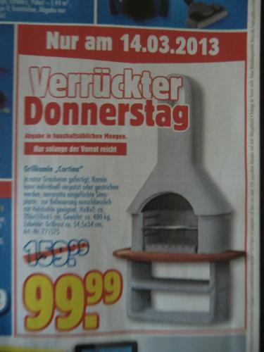 """Grillkamin """"Cortina"""" mit Grillrost, 400 kg --> (offline ) Praktiker, nur am 14.03 !"""