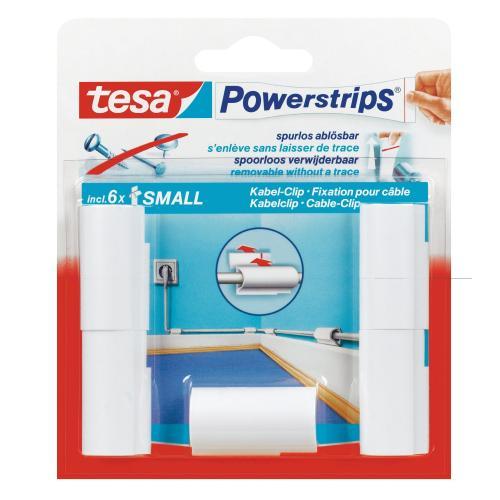 Kabelhalterung: tesa Powerstrips Kabel-Clip, weiß 5 Clips für 2,99€