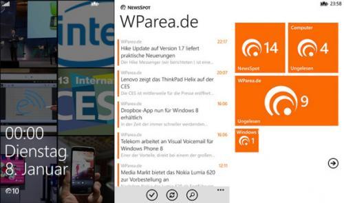 Google-Reader-Client NewsSpot für Windows Phone durch Promo-Aktion kostenlos