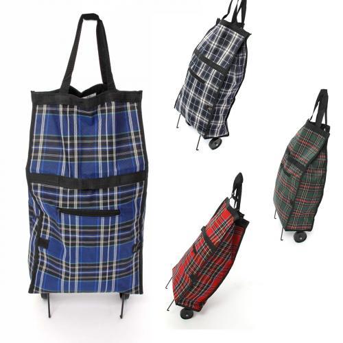 Einkaufstrolley Einkaufsroller Einkaufstasche Trolley, Tasche, Roller, Shopper, kariert für 4,90 EUR inkl, Versand @ ebay.de