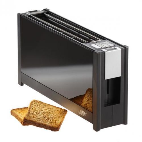 "ritter Toaster volcano 5 mit eleganten Glasfronten in edlem schwarz - ""made in Germany"""