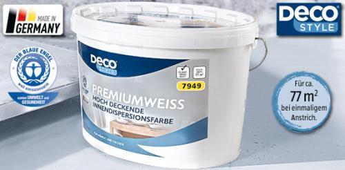 DECO STYLE® Premiumweiß || 11l Hochdeckende Innendispersionsfarbe