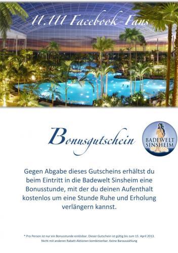 [Sinsheim] Badewelt Therme Sinsheim - 1 Gratis-Stunde