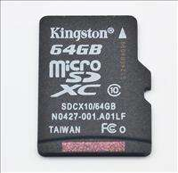 Kingston 64GB Class 10 Micro SDXC @Ebay