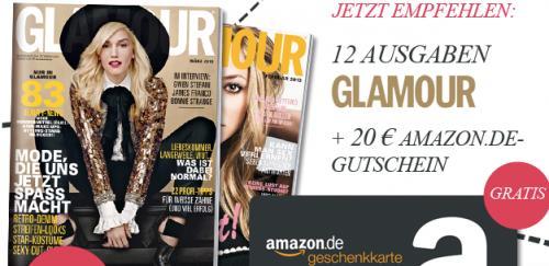Jahresabonnement der Glamour für 24,60€ + 20€ Amazon Gutschein