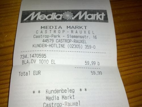Handstaubsauger Black und Decker DV 1010 EL @MediaMarkt Castrop