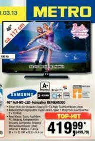 Samsung UE46EH5300 FULLHD+ Smart TV + EKlasse A+ [Metro]