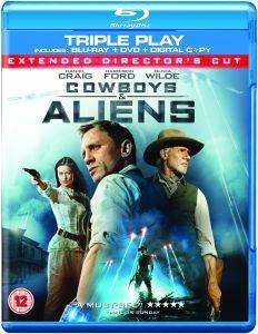 (UK) Cowboys & Aliens: Triple Play (Blu-ray + DVD + Digital Copy) inkl. deutscher Tonspur für ca. 5.67€ @ Zavvi