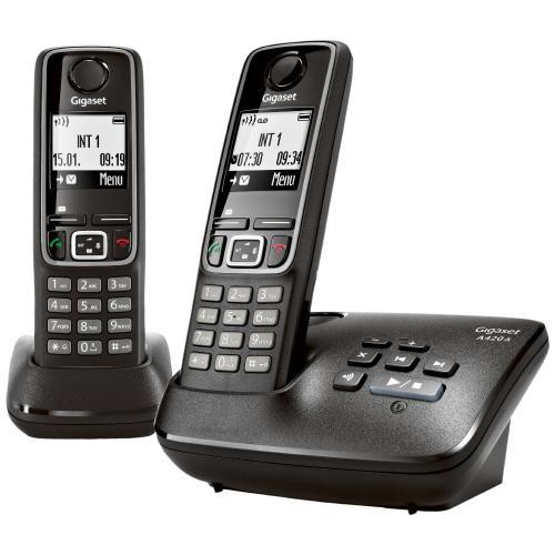 Gigaset A 420A Duo Schnurlostelefon schwarz