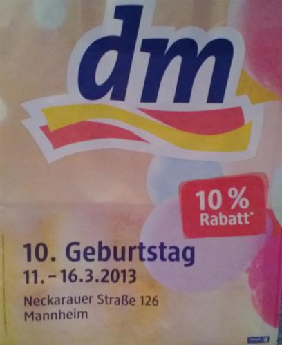 [Lokal MA] 10 % bei DM Mannheim Neckarauer Str. 126