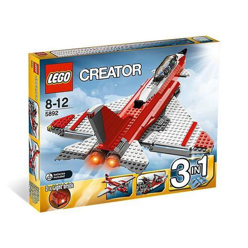 LEGO Creator 5892 Jet 3-in-1 (Flugzeug, Schnell-Boot, Düsenjet) für nur 29,99 EUR inkl. Versand!
