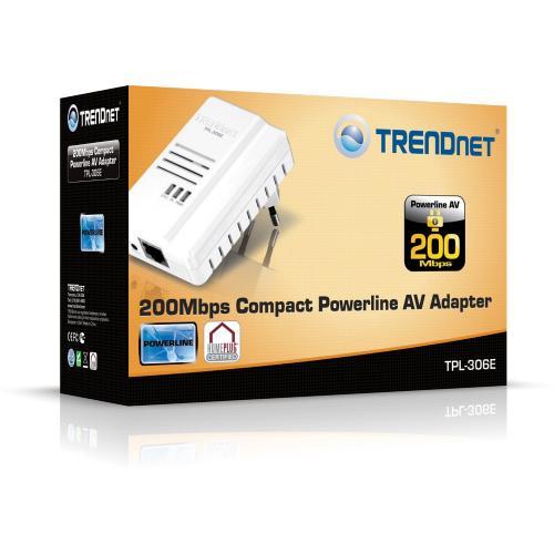 TRENDnet Powerline AV TPL-306E, 200Mbps, LAN