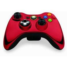 Microsoft Control Pad X-Box 360 Wireless - Chrome Red