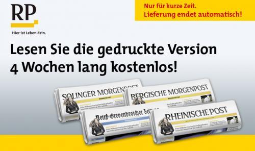 4 Wochen kostenlos: Tageszeitung Rheinische Post [endet automatisch]