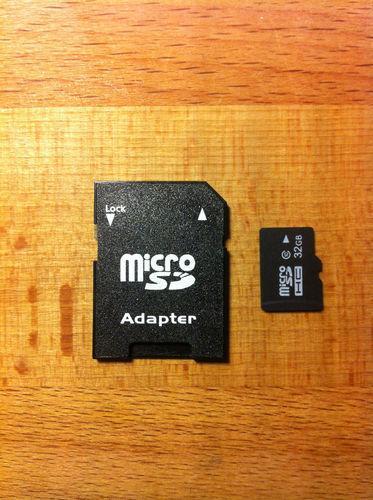 Micro SD 32 GB Speicherkarte mit SD-Adapter für nur 15,49 EUR inkl. Versand