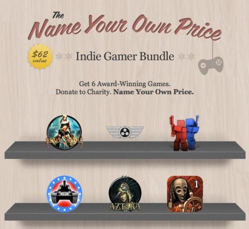 STEAM Das Name Your Own Price Indie Gamer Bundle - bis zu 6 Apps zum beliebigen Preis