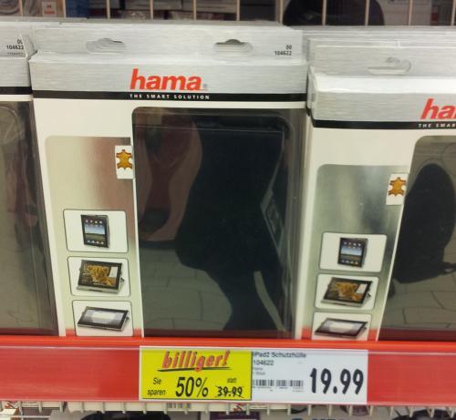 """[Hannover Kaufland] Hama iPad 2 Hülle """"Portfolio Slim"""" Echtleder für 19,99€"""