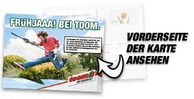 Kostenlos Postkarte versenden über TOOM-Baumarkt